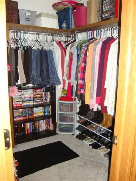 organizing bedroom closet my small walk in bedroom closet i don t like this just