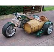 Beer Barrel Motorcycle Sidecar  Neatorama