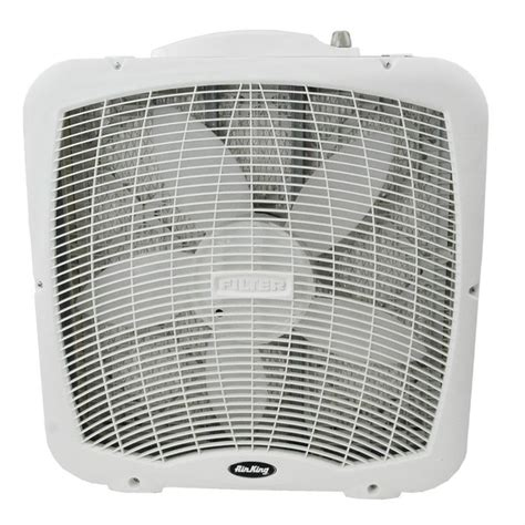 air king box fan 9900 air king 20 quot portable box fan with built in filtering