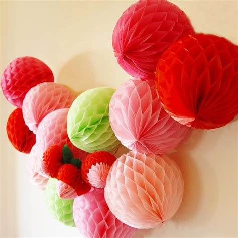 How To Make Honeycomb Paper Flower - new year decoration 5pcs lot 6 quot tissue paper honeycomb