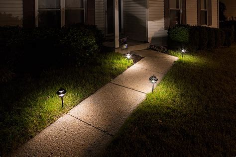 landscape path light led landscape path lights dual tier 4 watt aluminum