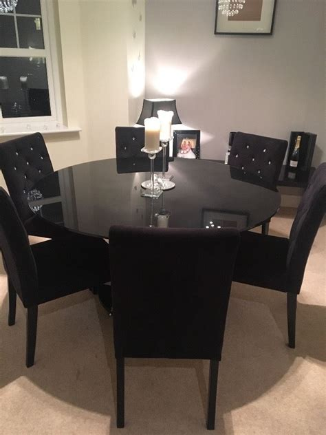 black glass dining table 6 seater black glass dining table and 6 black velvet