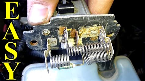 replace  blower motor resistor youtube
