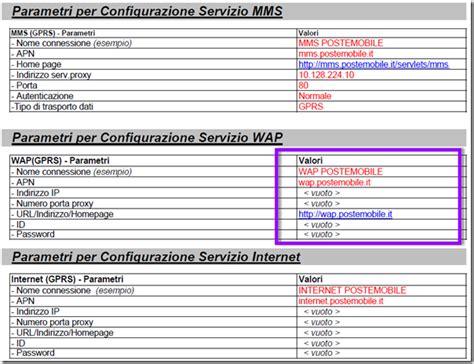 apn poste mobile configurazione iphone con poste mobile configurazione