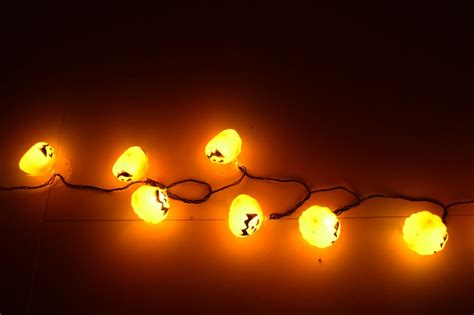 orange lights for halloween festival collections