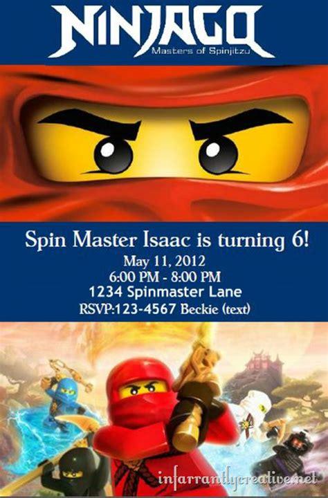 printable ninjago invitations free 114 best ninjago bday party images on pinterest