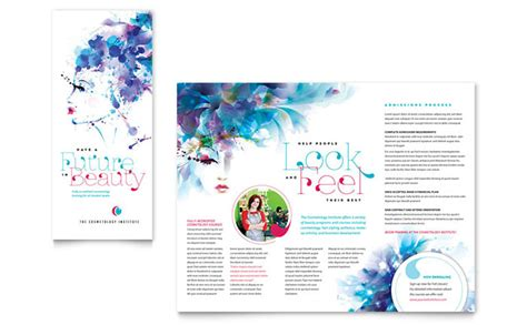 brochure design layout download cosmetology brochure template design