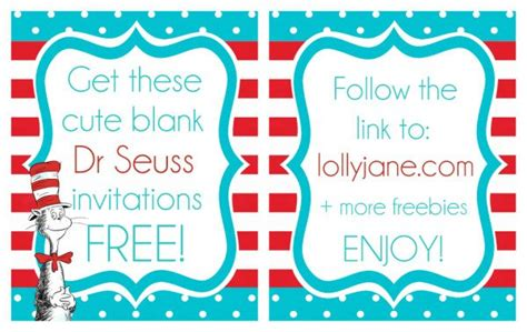 dr seuss invitation template free printable dr seuss quotes templates quotesgram