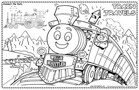 coloring books train travels colorable placemat