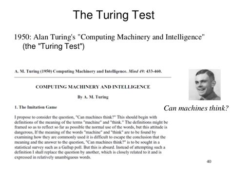 Alan Turing Essay by Image Gallery Turing Paper 1950
