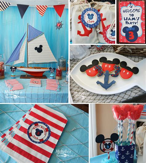nautical themes kara s party ideas nautical boat mickey mouse boy disney