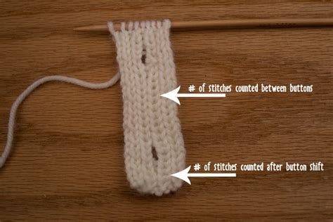 knit vertical buttonhole how to knit a vertical button band