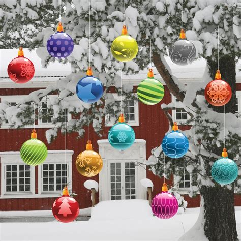 cute christmas decoration with various oversize christmas