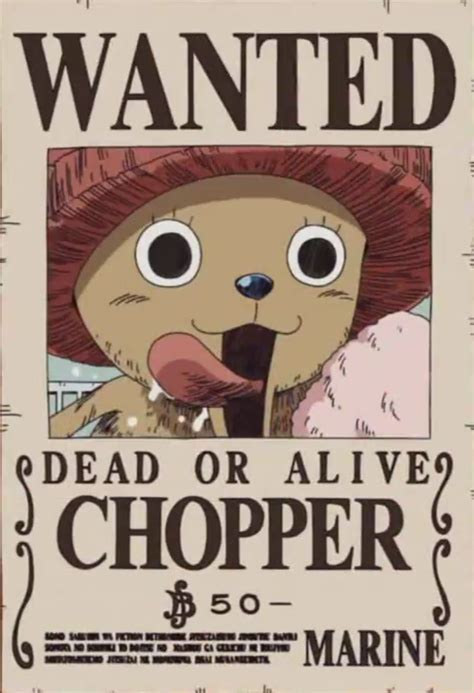 membuat poster wanted one piece tony tony chopper gallery one piece wiki fandom