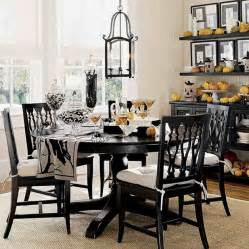 White And Black Dining Room Table Amazing Dining Area With Black Table Black White Chairs And Chandelier Dweef