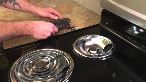 how to remove electric cooktop how to remove drip pans and clean underneath stove top