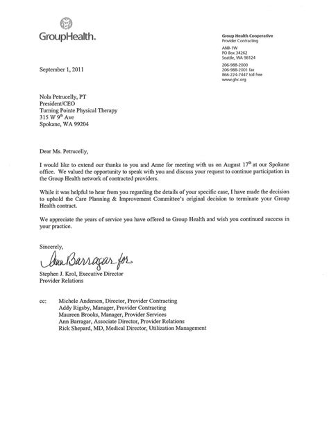 Group Health Update 3 45pm On 9 2 11 A Turning Pointe Physical Therapy Update Letter Template