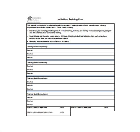 training plan template cyberuse