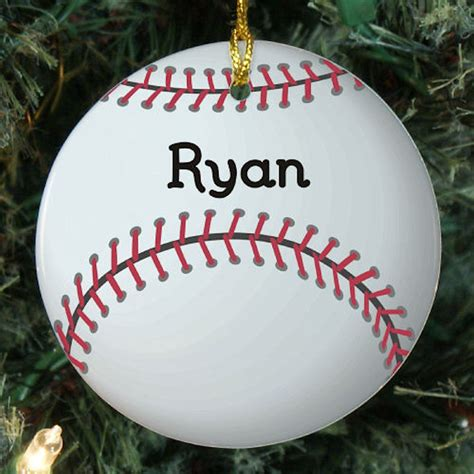 personalized baseball christmas ornament neat stuff gifts