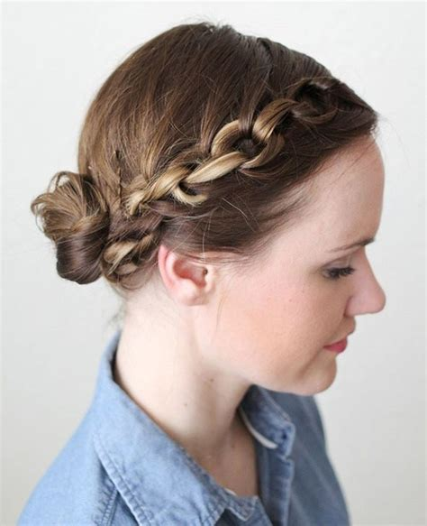 hairstyles for medium length hair plaits 20 easy updos for medium hair