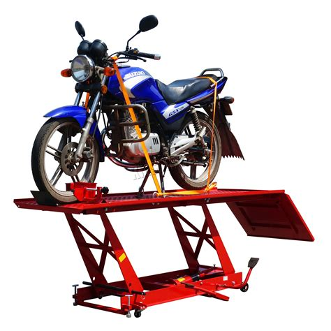bench bike foxhunter 1000lb hydraulic bike motorcycle motorbike lift