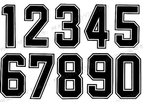 printable jersey letters jersey number font images football jersey number font