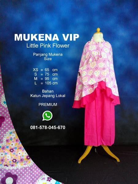 Grosir Mukena Katun Jepang Flower Pink Rh grosir pesan mukena katun jepang santung bordir batik bali