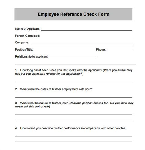 reference questions template doc 12751650 employment reference request template