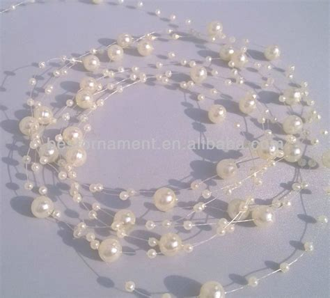 colorful 8mm 3mm pearl beaded garland for wedding bouquet