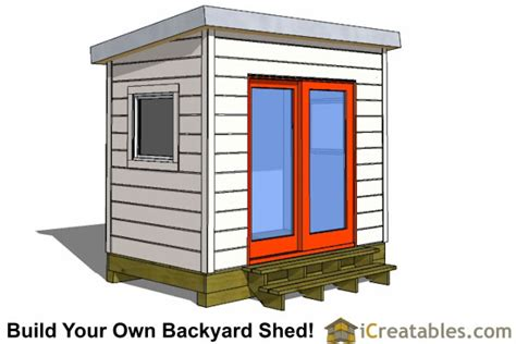 6 By 8 Shed Plans by 6x8 Modern Shed Plans By Icreatables