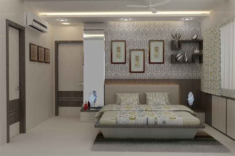 master bedroom  wallpaper design  mahendra jadeja