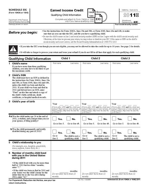 Forms For Tax Credit pictures 2013 eic worksheet roostanama