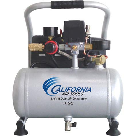 california air tools light portable air compressor 1 gallon 0 6 hp model 1p1060s