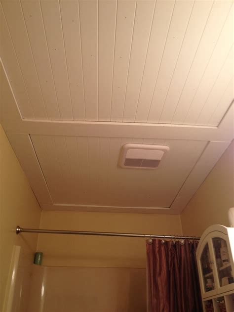 ceiling ideas for bathroom our beadboard bathroom ceiling remodel