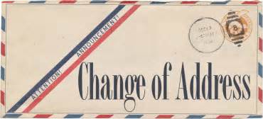 Of Address County Change Of Address