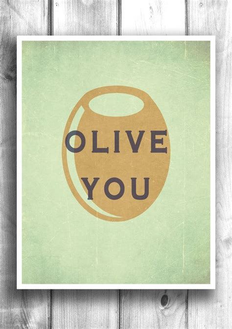 Poster Quotes Wall Bingkai Kayu Kitchen olive you print kitchen wall bar decor kitchen decor kitchen print quote olive