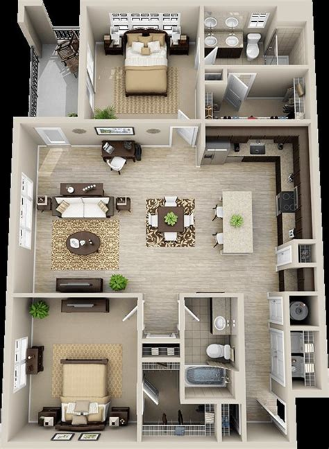 three room apartment modern house plan design free download 23 creative