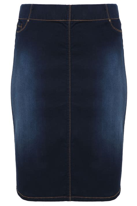 Indigo Check Gift Card Balance - indigo denim pull on midi pencil skirt plus size 14 to 28