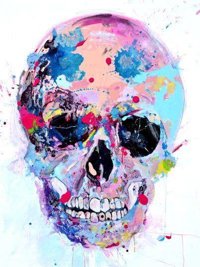watercolor sugar skull tattoo skull watercolors illustration skulls