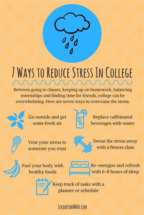how to relieve anxiety 7 ways to reduce stress in college scranton mma