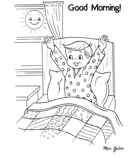 day and night coloring page for kindergarten good morning printables for children color on pages