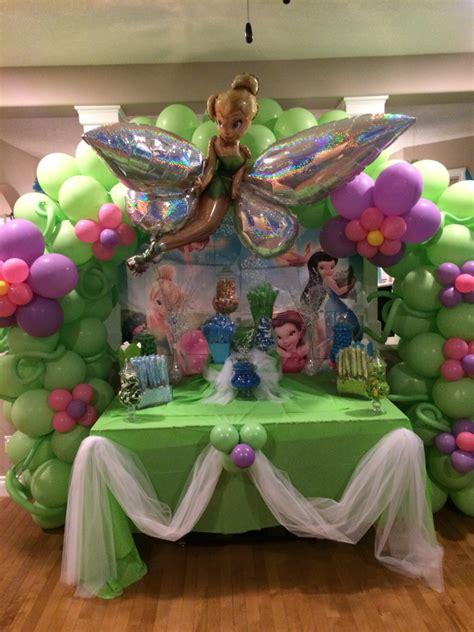 tinkerbell decorations ideas birthday party tinkerbelle tinkerbell balloon decor kids pinterest tinkerbell
