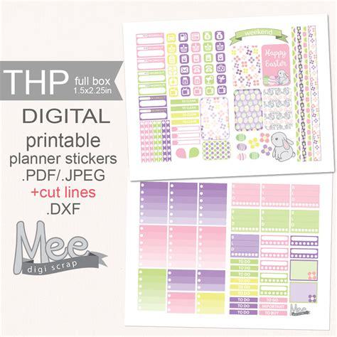 free printable easter planner easter stickersprintable planner stickersweekly by