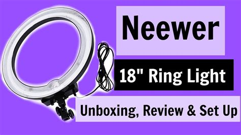 neewer ring light review neewer 18 quot ring light review