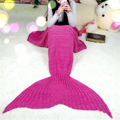 mermaid bedding for adults super soft hand crocheted mermaid tail blanket sofa
