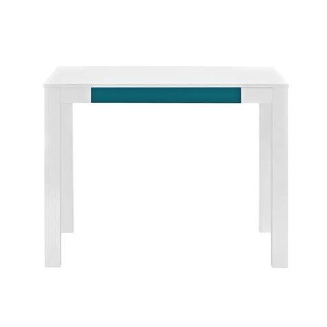Teal Desk L 1 Drawer Home Office Desk In White And Teal 9178896pcom