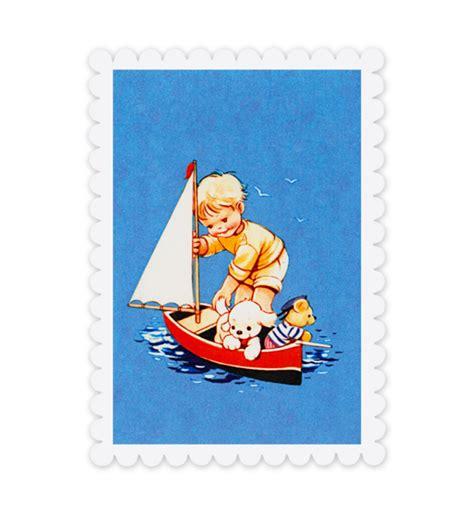Postcard Cat Boat Kartu Pos Murah mabel attwell postcards