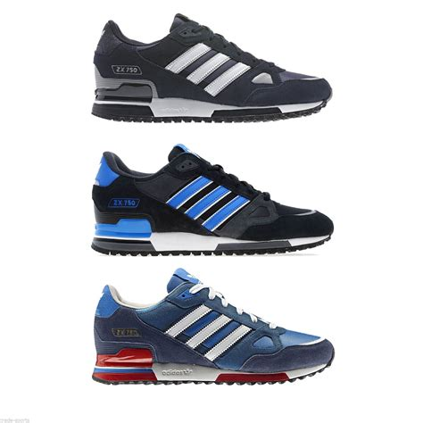 adidas originals zx  mens running trainers blue black