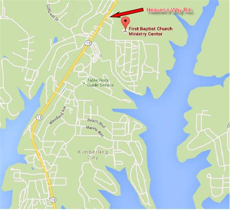 table rock lake site weigh in map webb outdoors
