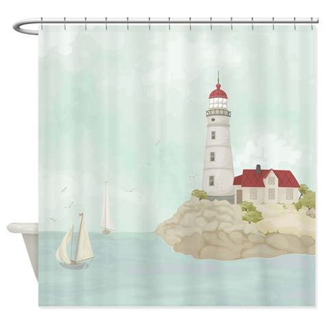 lighthouse curtains bathroom beautiful lighthouse shower curtain by bestshowercurtains